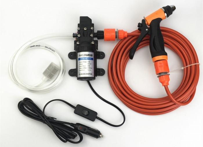 Pompa apa de mare presiune 12V DC Pompa solara, spalatorie auto, rulota, barca foto mare