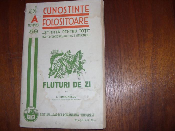 I.  SIMIONESCU  -  FLUTURI  DE  ZI   ( 1936, rara, file netaiate ) * foto mare