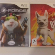 LOT 2 jocuri - Disney - G Force - Bolt - Nintendo Wii [Second hand], Actiune, 3+, Multiplayer