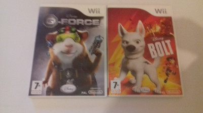 LOT 2 jocuri - Disney - G Force - Bolt - Nintendo Wii [Second hand] foto