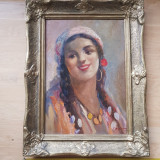 Set 2 tablouri Samuel Bogdanovici, Portrete, Ulei, Altul