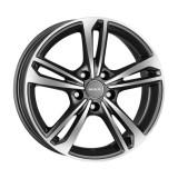 Jante FIAT CROMA 6.5J x 16 Inch 5X110 et35 - Mak Emblema Gun Met-mirror Face, 6,5
