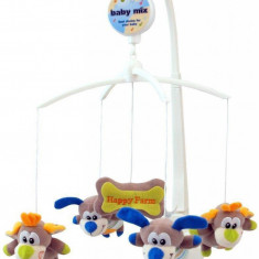 Carusel muzical Happy Farm, Multicolor, Baby Mix