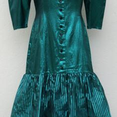 Rochie vintage din  lame verde  hand made