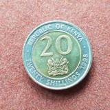 Kenya 20 shillings 1998 unc bimetal, Africa