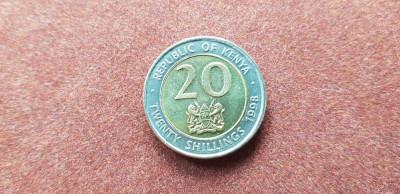 Kenya 20 shillings 1998 unc bimetal foto