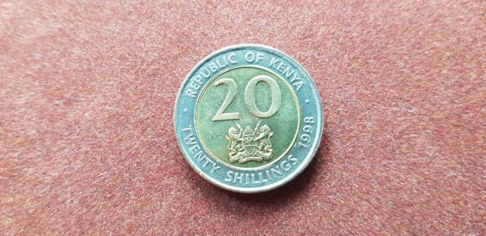 Kenya 20 shillings 1998 unc bimetal