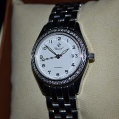 CEAS dama - BASSEL - Swiss made - Automatic - ETA - Bezel cu 50 diamante = 1ct.!, Elegant, Mecanic-Automatic, Otel
