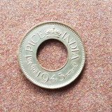 India 1 pice 1945 unc, Asia, Cupru (arama)