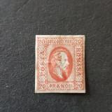 Al. Ioan Cuza efigia in oval  1865, 20 par nestamplilat MH, Nestampilat