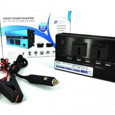 Invertor premium 500W 24V-220V cu 2 prize si 4 porturi USB