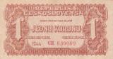 CEHOSLOVACIA 1 korunu 1944 AUNC!!!