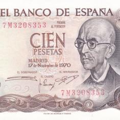 Bancnota Spania 100 Pesos 1970 - P152 UNC