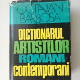 Dictionarul artistilor romani contemporani - Octavian Barbosa 1976