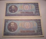 100 lei 1966 UNC Serii Consecutive