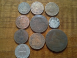 Lot 10 monede mai vechi din perioada 1850-1900, Europa