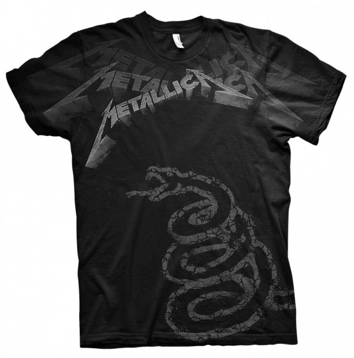 Tricou Metallica - Black Album Faded foto mare