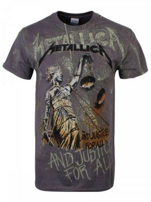 Tricou Metallica - Justice Neon All-Over foto