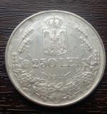 (A309) MONEDA DIN ARGINT ROMANIA - 250 LEI 1941, NIHIL SINE DEO, REGELE MIHAI I