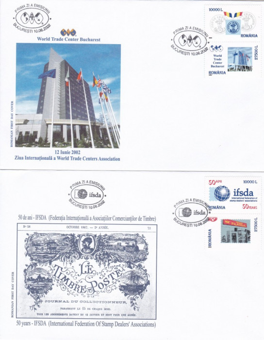 ROMANIA 2002  LP 1586  IFSDA - 50  ANI  ASOCIATIA  INTERNATIONALA  FDC foto mare