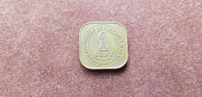 Malaya 1 cent 1945 a unc foto