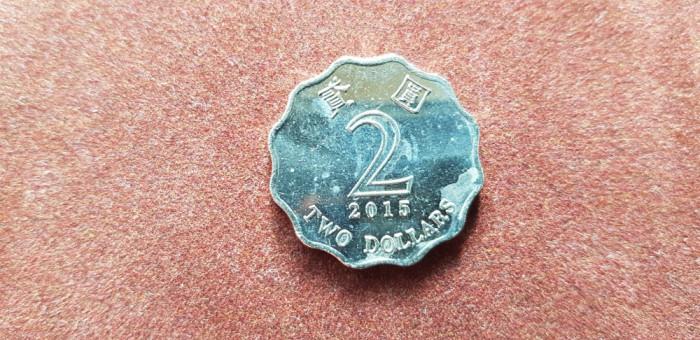 Hong Konk 2 dolari 2015 xf foto mare
