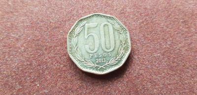Chile 50 pesos 2013 a unc foto