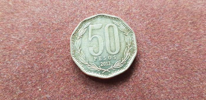 Chile 50 pesos 2013 a unc foto mare