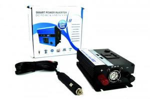 Invertor premium 300W 24V-220V cu o priza si 2 porturi USB