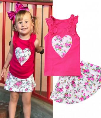 Costum roz cu inimioare foto