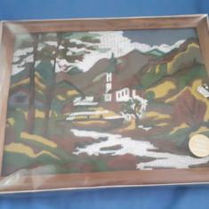 Panza Goblen cu rama de lemn si atele necesare confectionarii acestuia