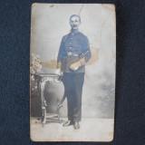 FOTOGRAFIE / CARTE POSTALA AUSTRO-UNGARA - OFITER MILITAR - CIRCULATA - 1915