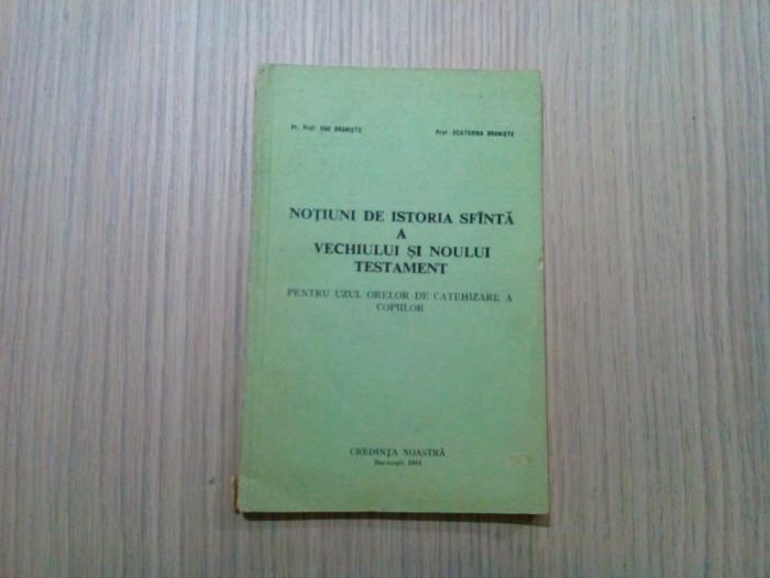 NOTIUNI DE ISTORIE SFINTA A VECHIULUI SI NOULUI TESTAMENT - Ene Braniste - 1991