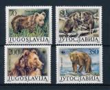 IUGOSLAVIA 1988 WWF SPECII PROTEJATE URSI COTA MICHEL 20 EURO, Nestampilat