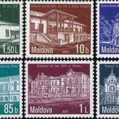 MOLDOVA 2011, Arhitectura, serie neuzata, MNH, Nestampilat
