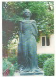 CPI B 10646 CARTE POSTALA - STATUIA EMINESCU - CURTEA BISERICII USPENIA BOTOSANI, Necirculata, Fotografie