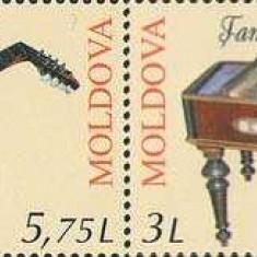 MOLDOVA 2014, Instrumente muzicale - EUROPA CEPT, serie neuzata, MNH