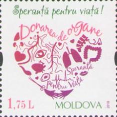 MOLDOVA 2018, Speranta pentru viata, serie neuzata, MNH, Nestampilat