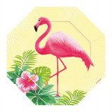 8 Farfurii Party 18cm Summer Flamingo Paradise