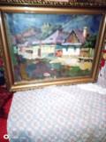 Tablou scoala baimareana NAGY OSZKAR, Peisaje, Ulei, Impresionism