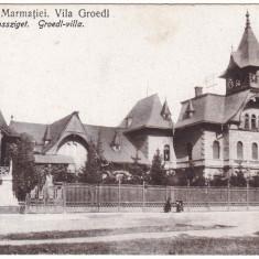 #2219- Romania, Sighetul-Marm. Maramarossziget, c.p. necirc:  Vila Groedl, Necirculata, Fotografie, Sighetu Marmatiei