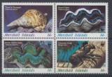 MARSHALL ISLANDS 1986  WWF SPECII PROTEJATE CORALI, Nestampilat