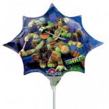 Balon folie mini figurina Testoasele Ninja 24cm