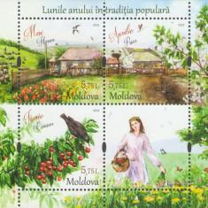 MOLDOVA 2018, Flora, Fauna, serie neuzata, MNH, Nestampilat