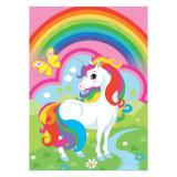 8 Pungi plastic Unicorn Party 16x23cm