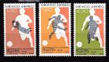 Mexic  1978  sport fotbal  MI 1588-90  MNH  w51, Nestampilat