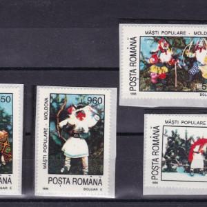 ROMANIA 1996  LP 1400  MASTI  POPULARE  SERIE  MNH