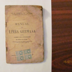 "CY - COMAN & CANDREA ""Manual de Limba Germana"" / 1921"