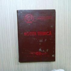 NOTITA TEHNICA A COMBINEI DE CEREALE C1, Tip 57 - SEMANATOAREA, 1958, 177 p.