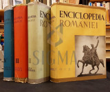 GUSTI DIMITRIE - ENCICLOPEDIA ROMANIEI, 4 Volume (Set Complet), 1938 - 1943, Bucuresti